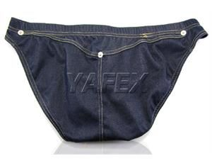 NEW sexy briefs men Low Rise False rivet underwear shorts jeans like