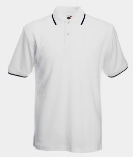 Fruit of the Loom Tipped Polo Polohemd Poloshirt mit Kontraststreifen