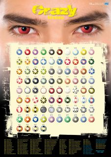 Fun /Crazy lenses Motivlinsen Fasnachtslins colored contact lenses T.B