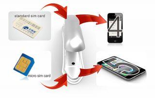 Your standard sim card & micro sim card can be cut the same size as