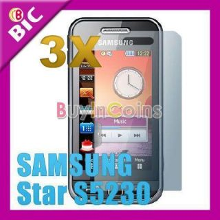 3PCS LCD Screen Protector Guard for Samsung S5230/S5233
