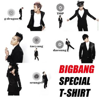 BIGBANG SPECIAL T SHIRT, K pop Idol BIGBANG G dragon TOP Taeyang