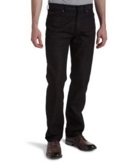 Calvin Klein Mens Rinse Black Straight Leg Jean Clothing