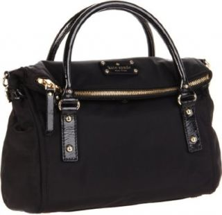 New York Kate Spade Nylon Small Leslie Satchel,Black,One Size Shoes