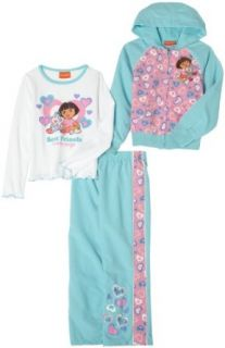 Dora the Explorer Girls 2 6x 3Piece Jacket Pant Set,Blue