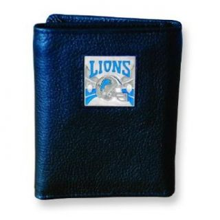 NFL Detroit Lions Trifold Leather Wallet Clothing