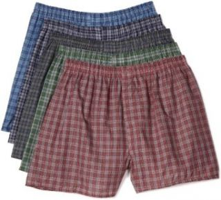 Fruit of the Loom Mens 5 Pack Tartan Boxer Clothing