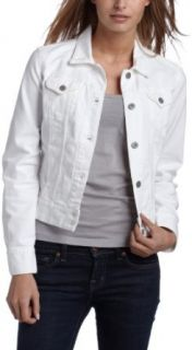 Lucky Brand Womens Adelaide Colored Denim Jacket,White,X