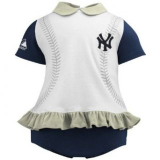New York Yankees Baseball Ruffle Dress Outfit (6/9 Months