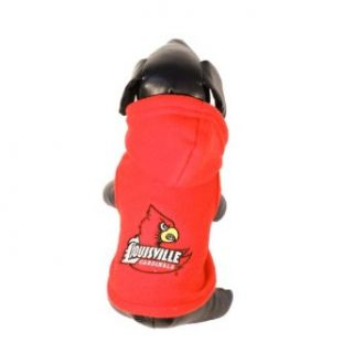 NCAA Louisville Cardinals Polar Fleece Hooded Dog Jacket