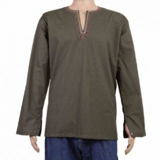 Dress for Men Cotton Kurta Shirt Indian Costume Clothes