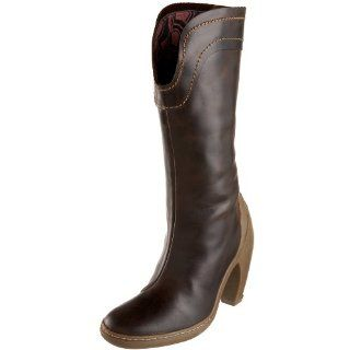 FLY London Womens Upper Boot,Dark Brown,39 EU (US Womens 9 M) Shoes
