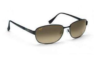 Maui Jim GS254 25A Black Driftwood Oval Sunglasses Maui Jim Shoes