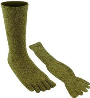 Speckled Black & Yellow Toe Socks (Large) Clothing