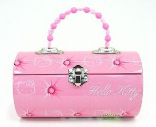 Hello Kitty Pink Kids Tin Lunch Box Clothing