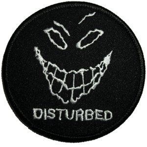 Disturbed Evil Grin / Smile Face Music band Logo Iron on