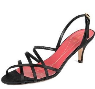 Kate Spade Emily Strappy Satin Heels, Black, Sz. 8 Shoes