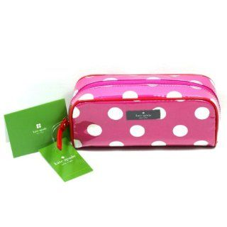 Kate Spade Henrietta Cosmetic Case Make Up Bag ~ Pink Polka Dot Shoes