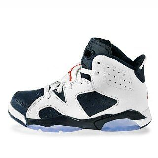 Nike Air Jordan 6 Retro (PS) Boys Basketball Shoes 384666 130 Shoes