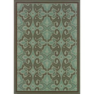 Blue/ Brown Outdoor Area Rug (86 x 13)