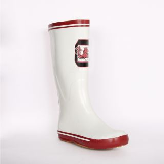South Carolina Gamecock Womens White Logo Rain Boots Today $45.99