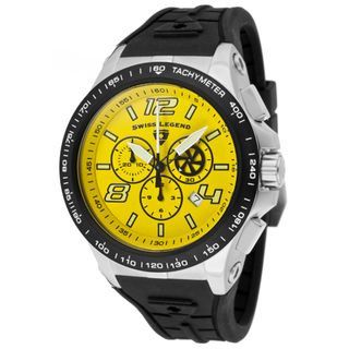 Swiss Legend Mens Sprint Racer Black Silicone Watch