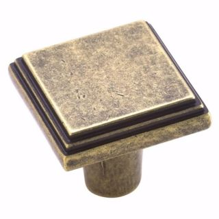 Amerock Weathered Brass Square Cabinet Knobs (Pack of 10)