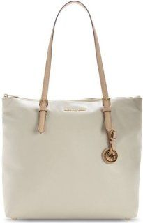 Michael Kors Jet Set Large North/South Tote Handbags   White Shoes
