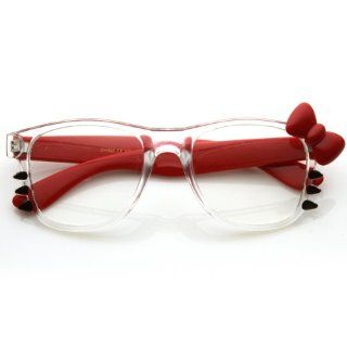 Fashion Hello Kitty Clear Lens Glasses w/ Bow and Whiskers Shoes