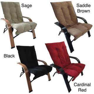 Indoor/ Outdoor Folding Chair with Wooden Arms and Microsuede Cover