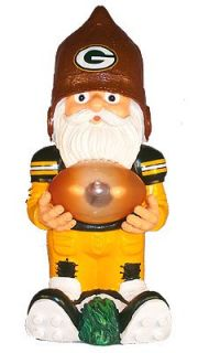 Green Bay Packers Football Garden Solar Gnome Sports