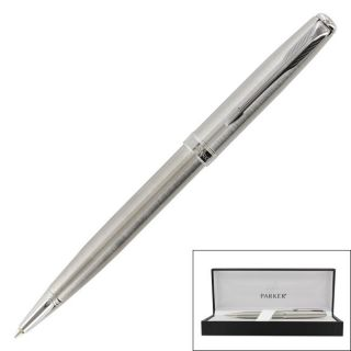 Parker Sonnet Stainless Steel Blue Medium Point Ballpoint Pen