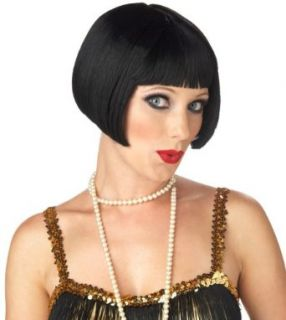 California Costume Womens Flirty Flapper Wig, Black