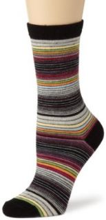 K. Bell Socks Womens Merino Wool Blend Crew Socks, Black