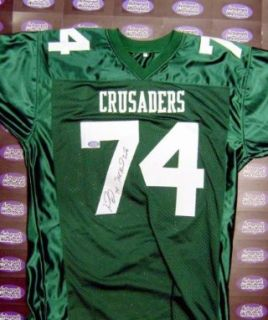 Signed Michael Oher Jersey   Crusaders High School blind