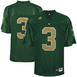 adidas Notre Dame Fighting Irish #3 Kelly Green Replica