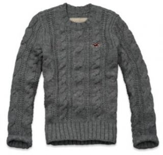 Hollister Mens Wool Cable Knit Sweater Clothing