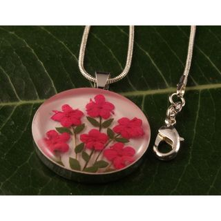 Hot Pink Flowers Bouquet Pendant (Mexico)