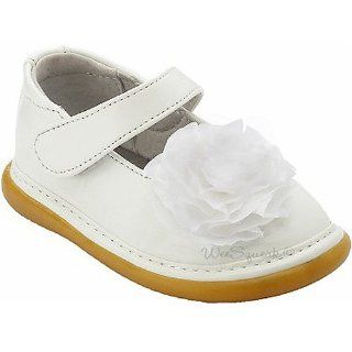 Baby Toddler Girl White Peony Maryjane Shoes 3 12 Wee Squeak Shoes