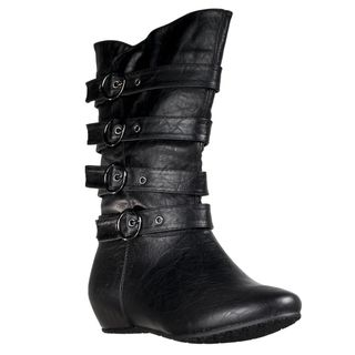 Wild Diva Womens Candies Strappy Boots