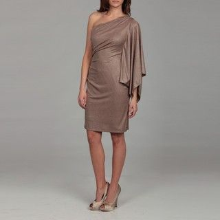 Hailey by Adrianna Papell Womens Gold Metallic One sleeve Dress