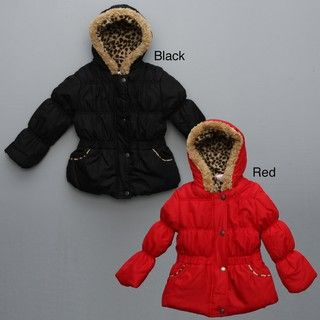 Pink Platinum Toddler Girls Faux fur Puffer Jacket FINAL SALE