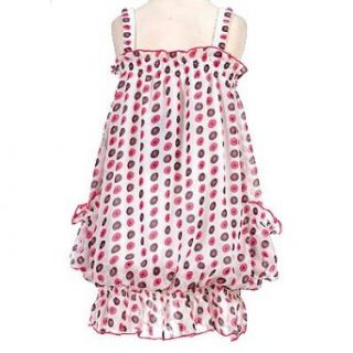 New Little Girls Clothing WHITE POLKA DOT Dress GEGE 5