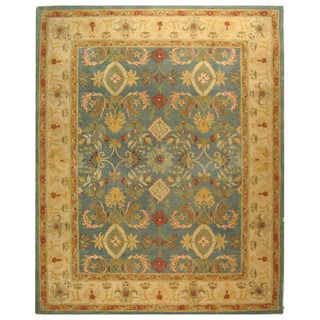 Handmade Legacy Light Blue Wool Rug (96 x 136)