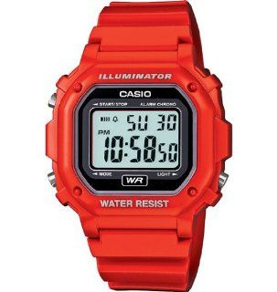 Casio F 108WHC 4ACF Mens Red Chronograph Watch Watches