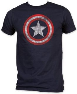 MARVEL    CLASSIC CAPTAIN AMERICA SHIELD ON NAVY    MENS