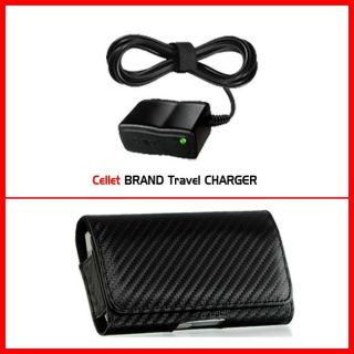 Samsung Focus i917 Carbon Fiber Style Belt Clip Case with Car Charger