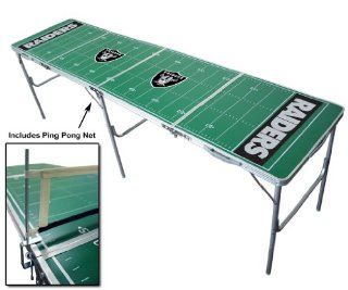 8ft Oakland Raiders NFL Tailgate Table