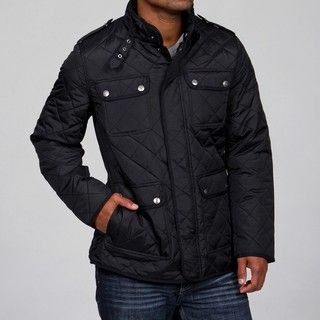 Steve Madden Mens Black Quilted Jacket