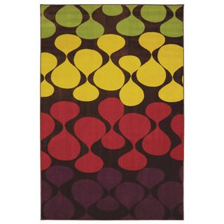 Mohawk Home Lava Lamp Brown Rug (53 x 710)